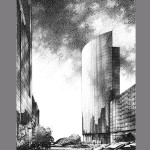Canary Wharf 2 London KPF 150x150 Graphite Pencil Renderings