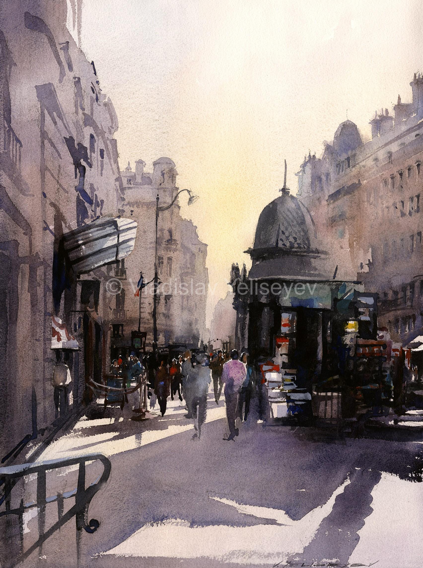 Urban Paintings Watercolor Artworks By Artist Vladislav