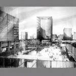Pudong Development 2 KPF 150x150 Graphite Pencil Renderings